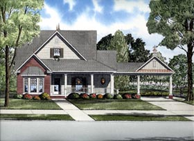 House Plan 61312 | Cape Cod Style Plan with 1927 Sq Ft, 3 Bedrooms, 2 Bathrooms, 2 Car Garage Elevation