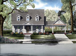 Country House Plan 61318 Elevation