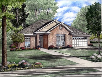 European Traditional House Plan 61319 Elevation