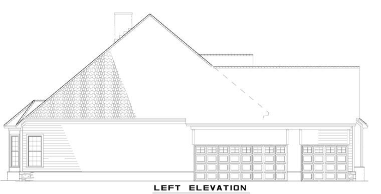 Craftsman, European, Tudor House Plan 61321 with 4 Beds, 3 Baths, 3 Car Garage Picture 1