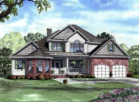Traditional House Plan 61322 Elevation