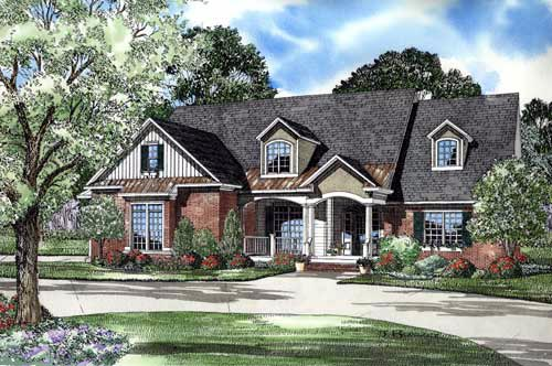 Traditional House Plan 61324 Elevation