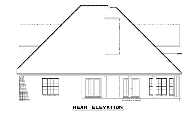 Cottage Craftsman Farmhouse House Plan 61325 Rear Elevation