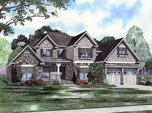 Traditional House Plan 61326 Elevation