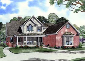 Country House Plan 61327 with 4 Beds, 2 Baths, 2 Car Garage Elevation