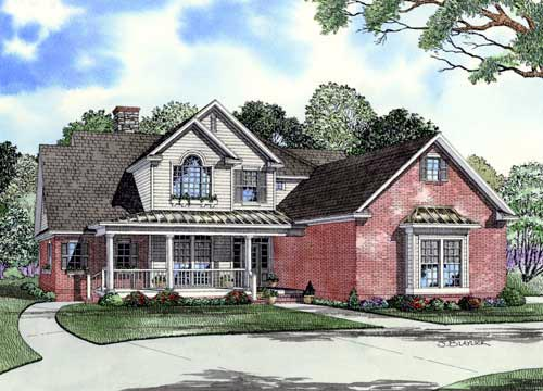Country House Plan 61327 Elevation