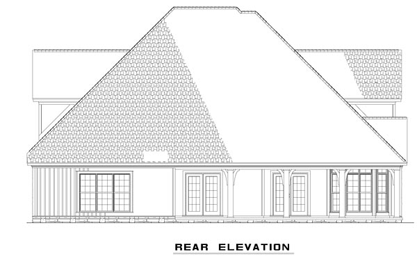 House Plan 61328 | Country Craftsman Victorian Style Plan with 2815 Sq Ft, 4 Bedrooms, 3 Bathrooms, 2 Car Garage Rear Elevation
