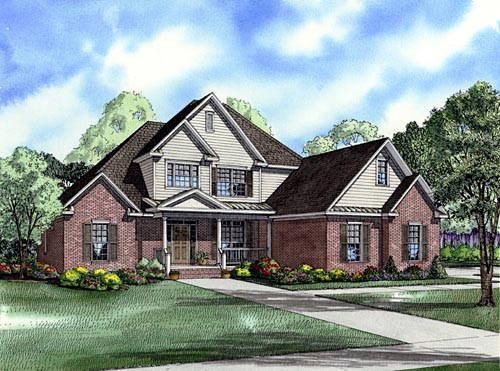 Traditional House Plan 61330 Elevation