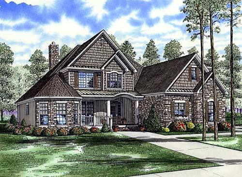 Craftsman House Plan 61331 Elevation