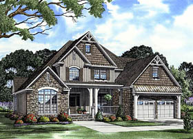 Craftsman European House Plan 61333 Elevation