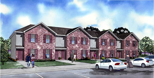 Traditional Multi-Family Plan 61337 Elevation