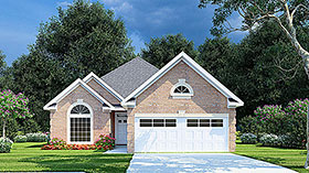 European Traditional House Plan 61338 Elevation