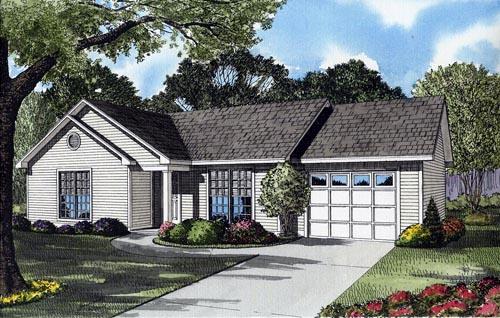Traditional House Plan 61340 with 3 Beds, 1 Baths, 1 Car Garage Elevation