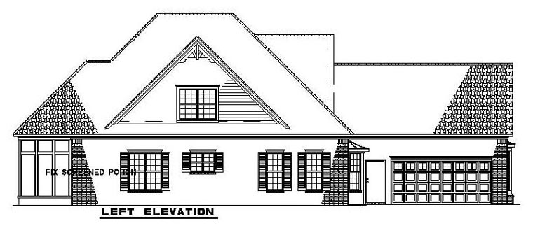 Narrow Lot House Plan 61342 with 3 Beds, 4 Baths, 2 Car Garage Picture 1