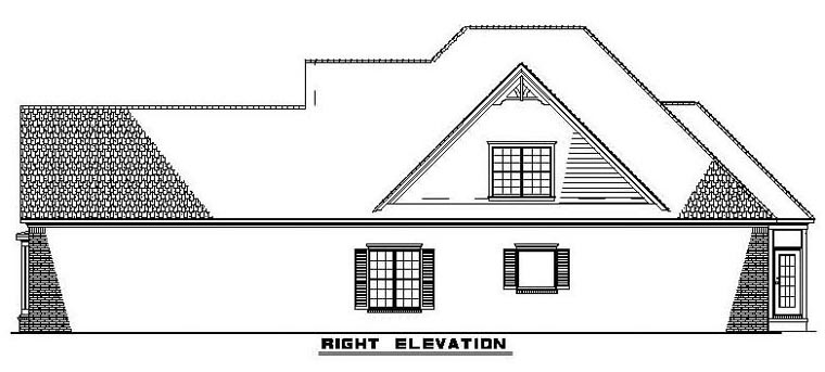 Narrow Lot House Plan 61342 with 3 Beds, 4 Baths, 2 Car Garage Picture 2