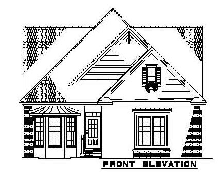 Narrow Lot House Plan 61342 with 3 Beds, 4 Baths, 2 Car Garage Picture 3