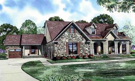 House Plan 61344 with 5 Beds, 3 Baths, 3 Car Garage Elevation