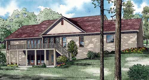 House Plan 61344 Rear Elevation