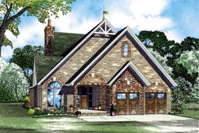 Cottage European House Plan 61345 Elevation