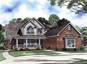 House Plan 61347 with 4 Beds, 2 Baths, 3 Car Garage Elevation