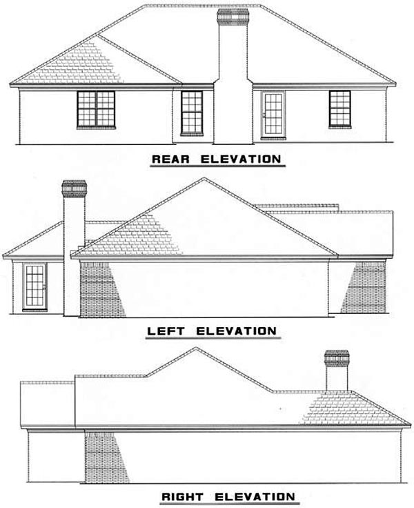 Traditional House Plan 61348 Rear Elevation