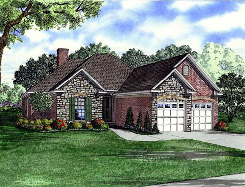 House Plan 61352 Elevation