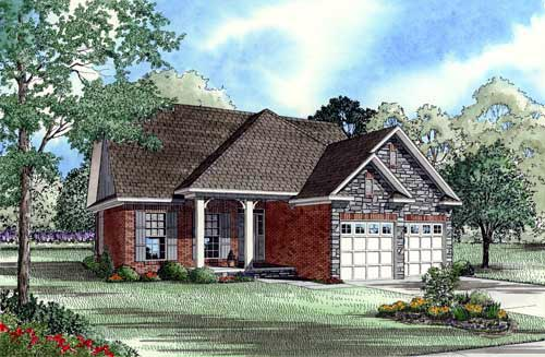 House Plan 61354 Elevation