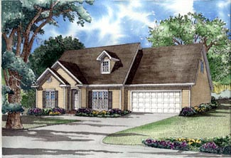 Traditional House Plan 61358 Elevation