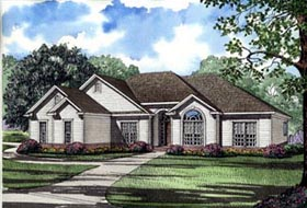 House Plan 61361 with 4 Beds, 3 Baths, 2 Car Garage Elevation