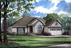 House Plan 61362 with 3 Beds, 2 Baths, 2 Car Garage Elevation