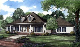 House Plan 61363 with 4 Beds, 5 Baths, 3 Car Garage Elevation
