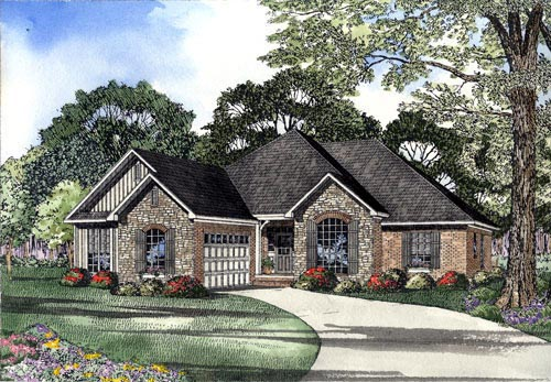 House Plan 61372 Elevation