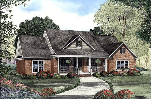 Cape Cod Country House Plan 61373 Elevation
