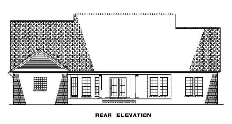 Cape Cod Country House Plan 61373 Rear Elevation