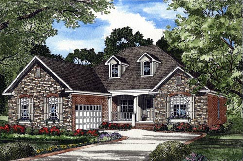 House Plan 61374 Elevation