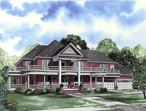 Plantation Southern House Plan 61376 Elevation