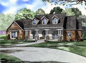 Country Southern House Plan 61377 Elevation