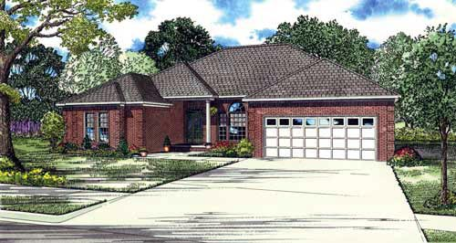 House Plan 61378 Elevation