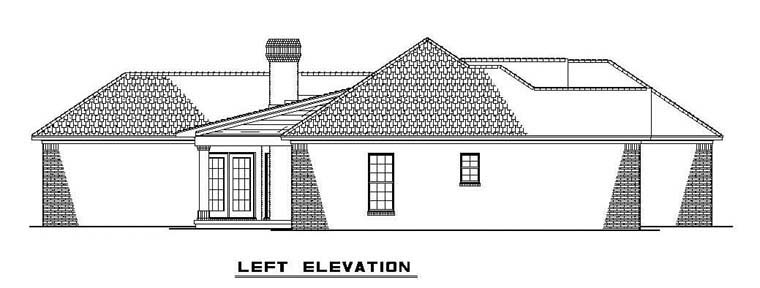 One-Story House Plan 61380 with 3 Beds, 2 Baths, 2 Car Garage Picture 1