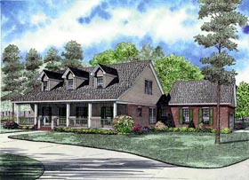 House Plan 61381 with 4 Beds, 3 Baths, 2 Car Garage Elevation