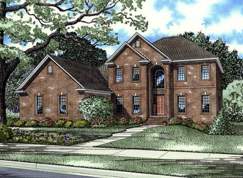 House Plan 61383 Elevation