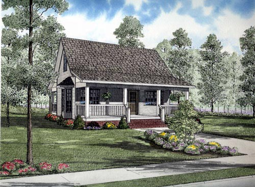 Cape Cod Cottage Country House Plan 61388 Elevation