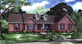 House Plan 61389 | Style Plan with 2487 Sq Ft, 4 Bedrooms, 4 Bathrooms, 2 Car Garage Elevation