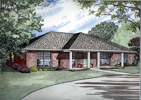 House Plan 61391 | Style Plan with 1800 Sq Ft, 3 Bedrooms, 2 Bathrooms, 2 Car Garage Elevation