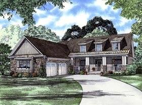 Craftsman House Plan 61395 with 4 Beds, 4 Baths, 2 Car Garage Elevation