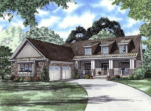 Craftsman House Plan 61395 Elevation