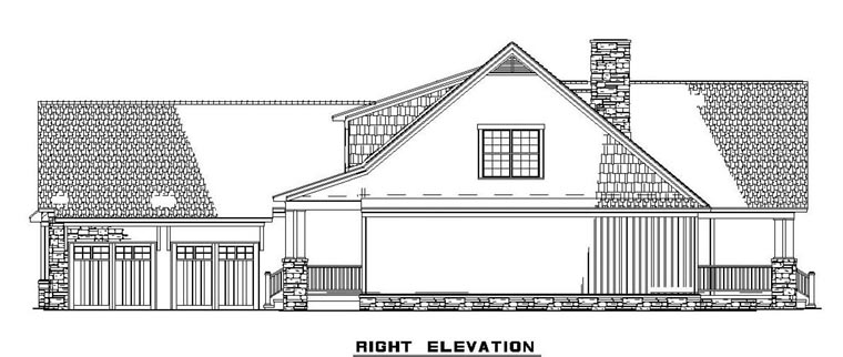 Craftsman House Plan 61395 with 4 Beds, 4 Baths, 2 Car Garage Picture 2