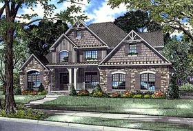 House Plan 61396 with 3 Beds, 3 Baths, 2 Car Garage Elevation
