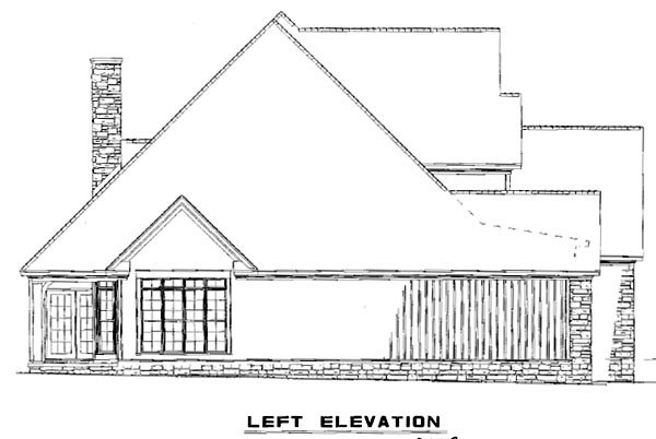 House Plan 61396 with 3 Beds, 3 Baths, 2 Car Garage Picture 1