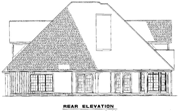 House Plan 61396 Rear Elevation